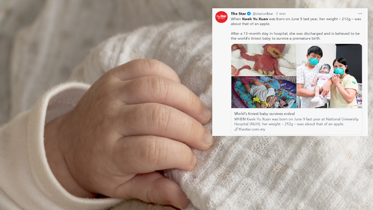 Singapur. Najmniejsze niemowlę świata wypisano ze szpitala po 13 miesiącach