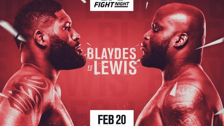 UFC Fight Night: Blaydes - Lewis. Transmisja w Polsacie Sport Extra