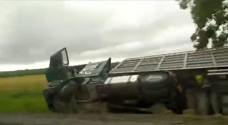 Wypadek ciężarówki z indykami. Służby wyłapują ptaki