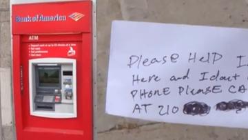 List z prośbą o pomoc zamiast pieniędzy. Serwisant utknął w bankomacie