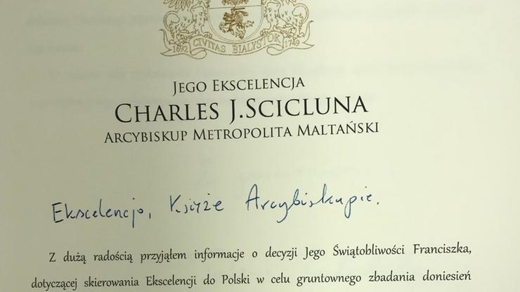 Prezydent Białegostoku pisze do abp. Scicluny. Wymienia trzech polskich hierarchów