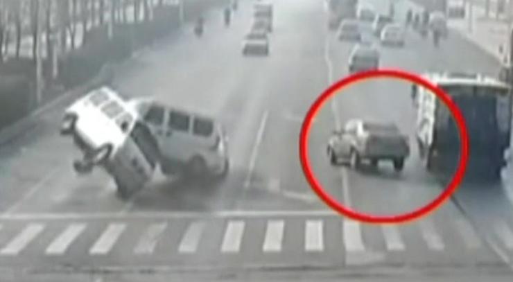 Spektakularny wypadek w Chinach
