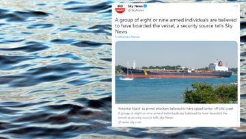 Brytyjski statek prawdopodobnie porwany u wybrzeży ZEA